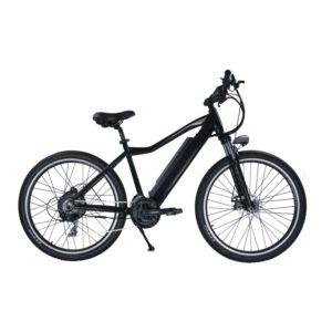 Cette photo représente un vélo de ville électrique, disponible à l'achat sur votre site Je Roule Vert